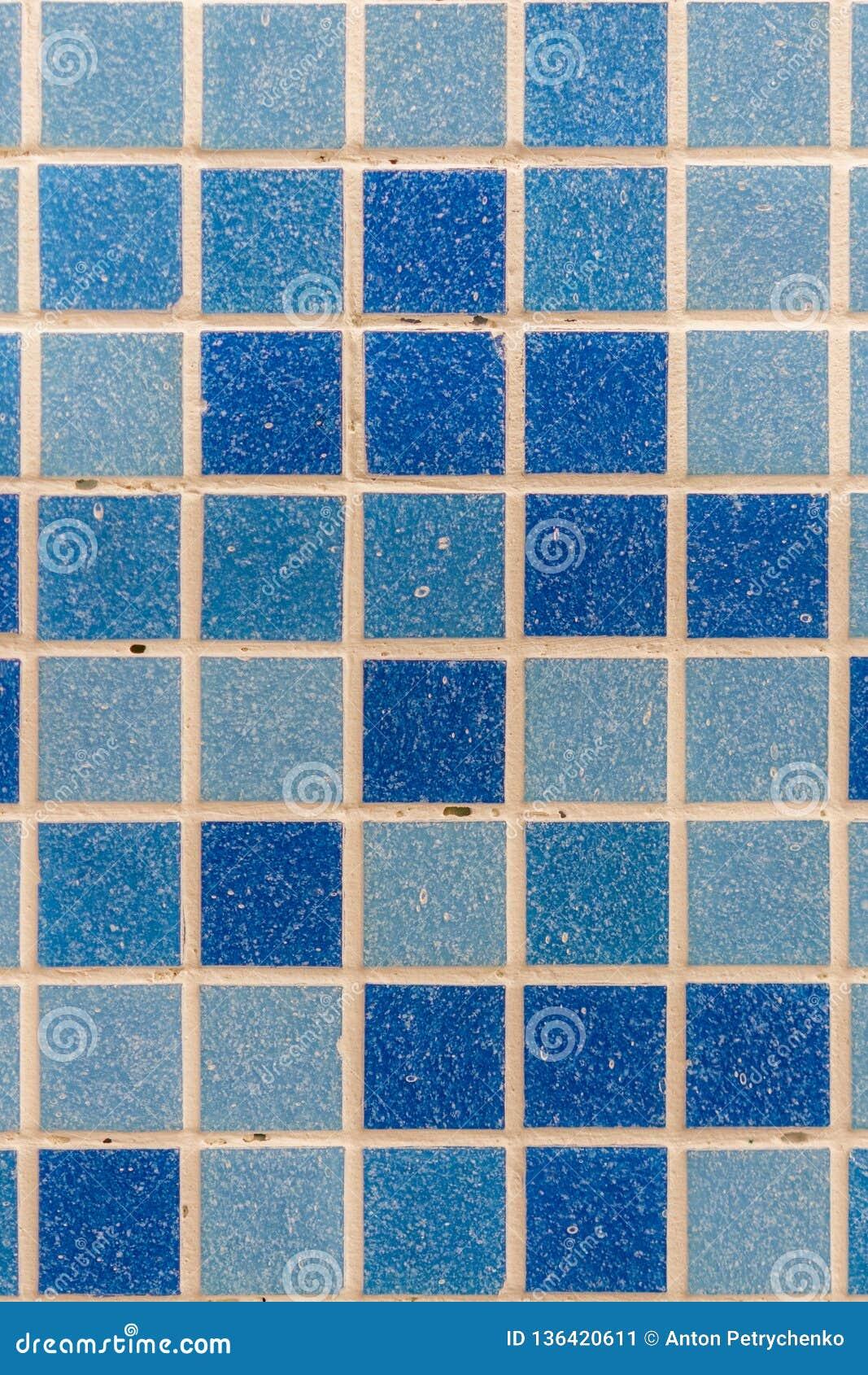 Photo De Haute Résolution De Mur Bleu De Tuile Vraie ...