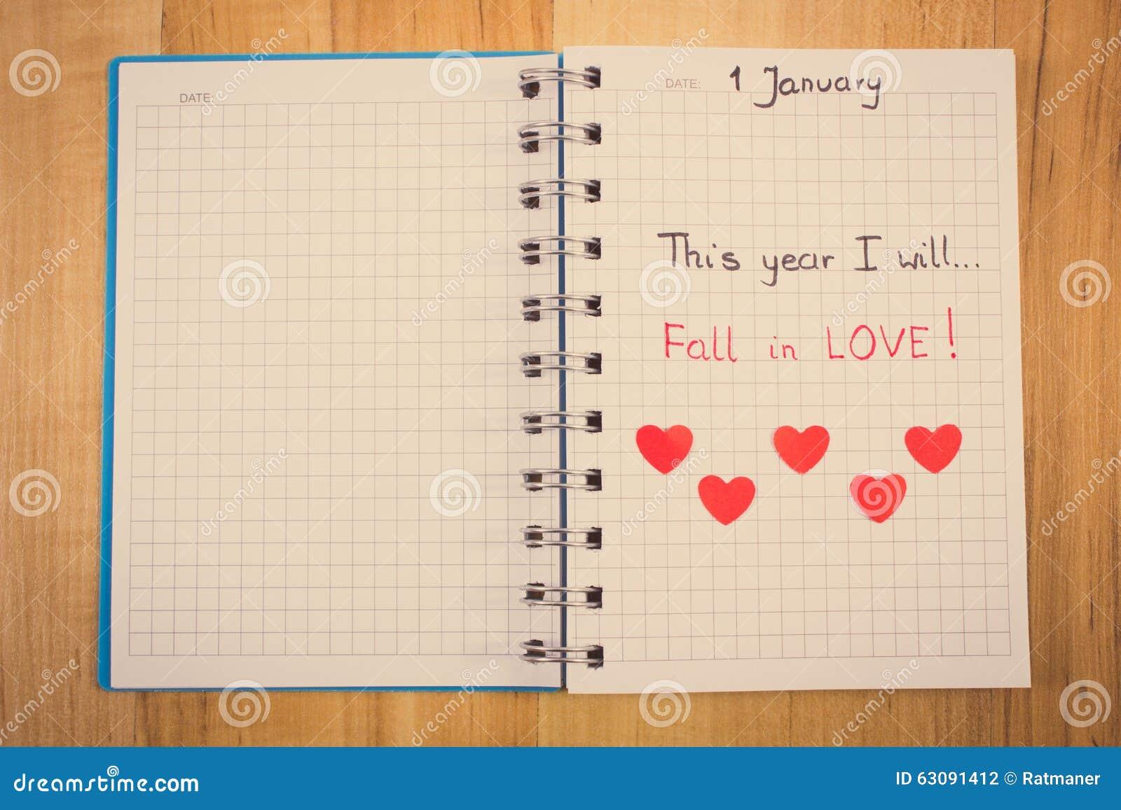 Download Photo De Vintage, Nouvelles Années De Résolutions écrites Dans Le Carnet Et Coeurs De Papier Rouges Photo stock - Image du charité, janvier: 63091412