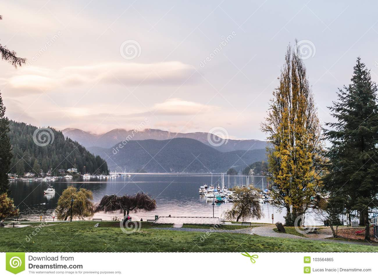 Deep Cove In North Vancouver Bc Canada Stock Image Image