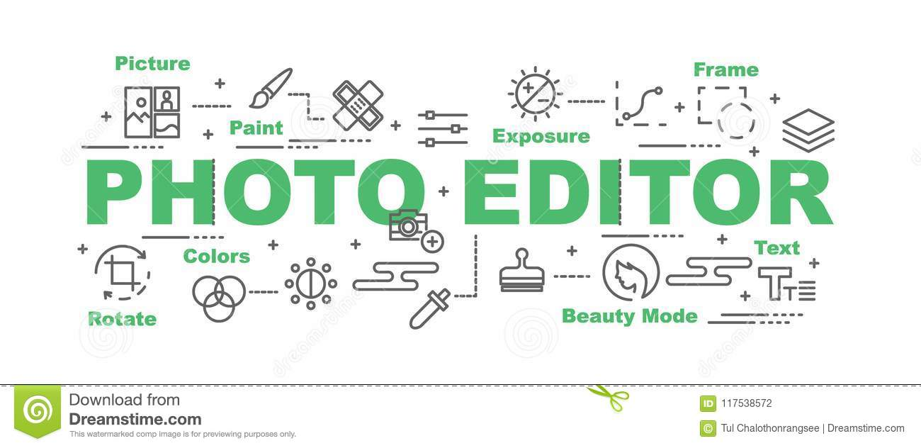 Photo editor vector banner stock vector. Illustration of photography ...