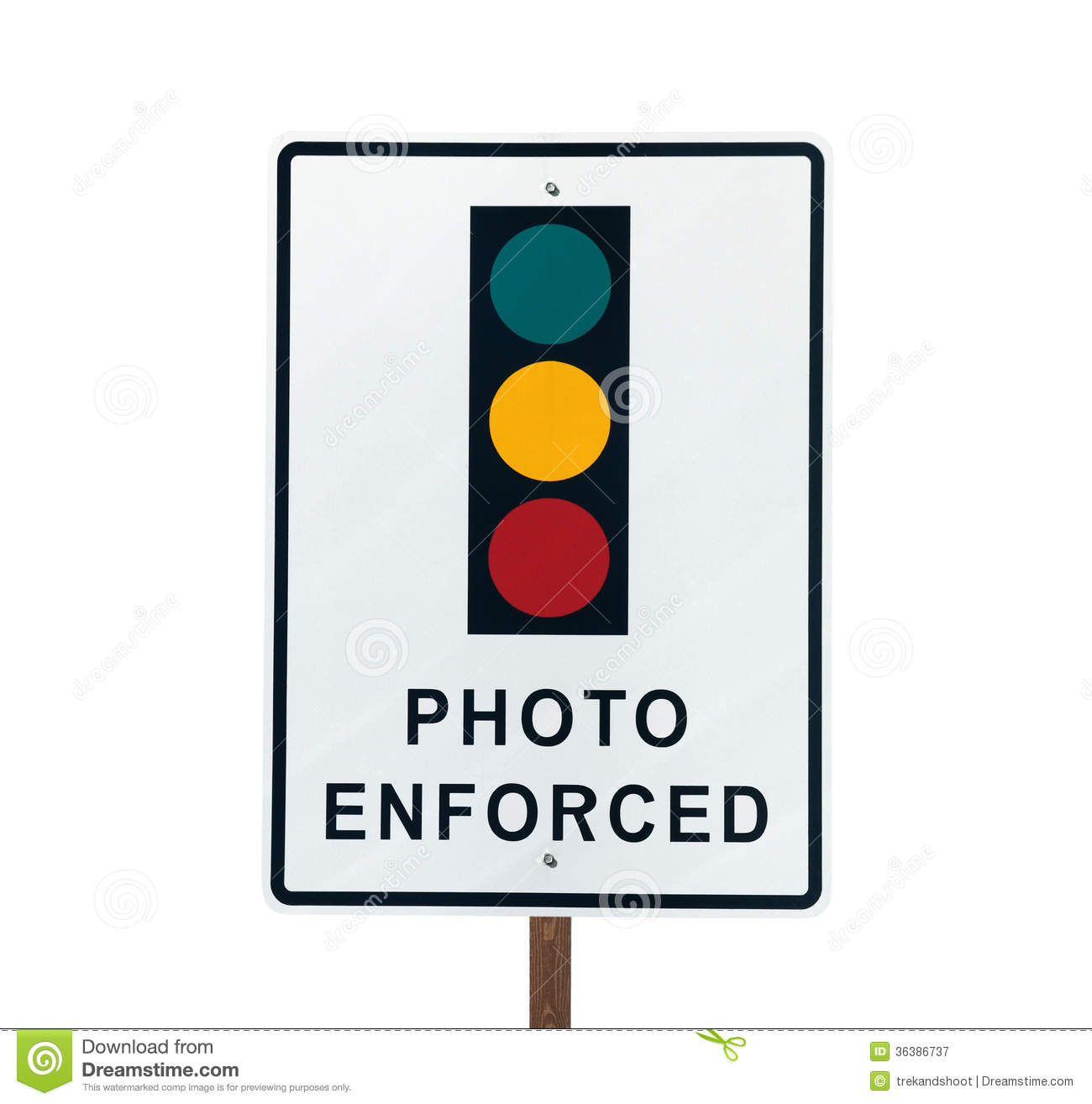 Photo Enforced Traffic Light Sign Royalty Free Stock Photography ...