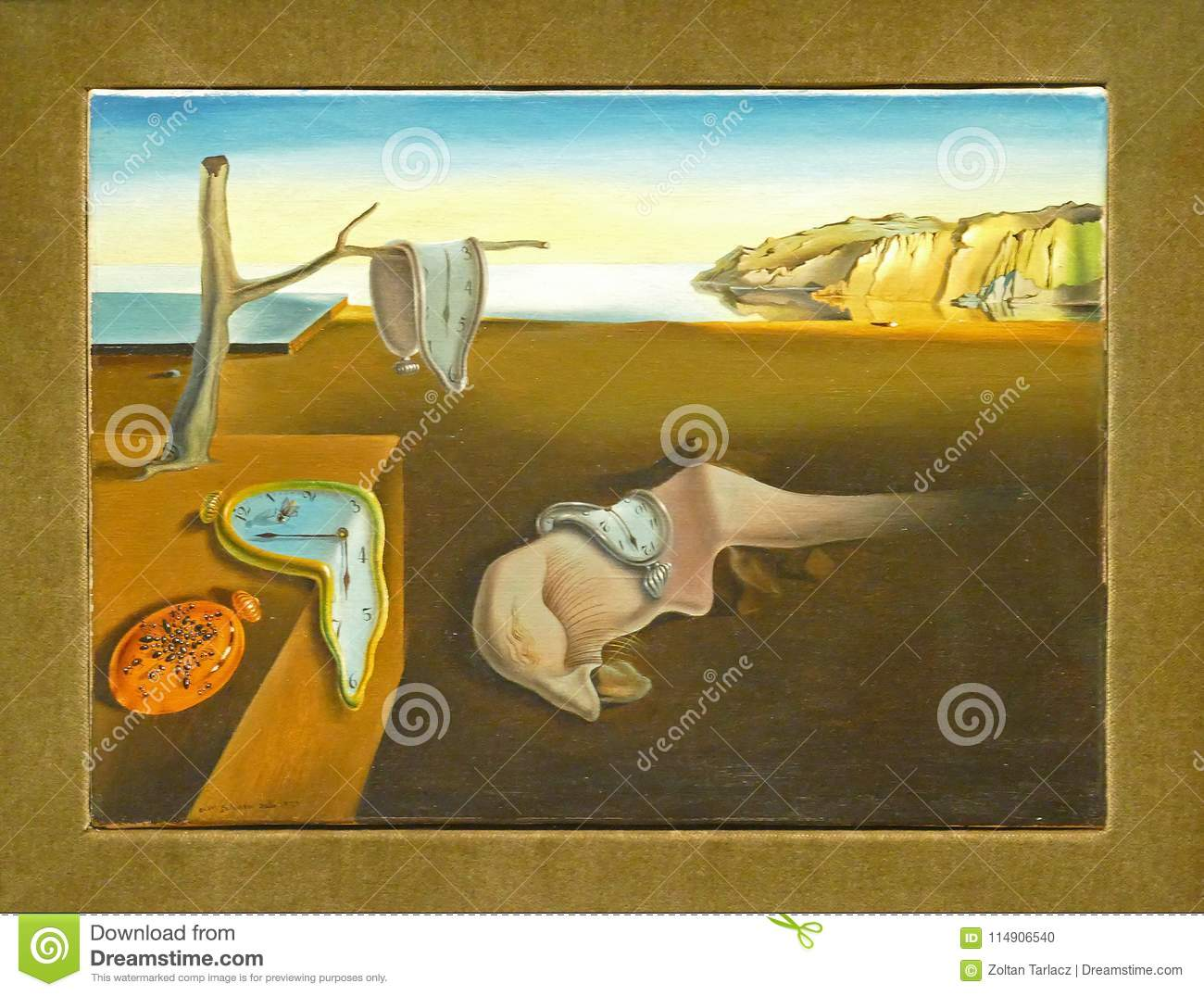 Photo Of The Famous Original Painting: `The Persistence Of Memory ...