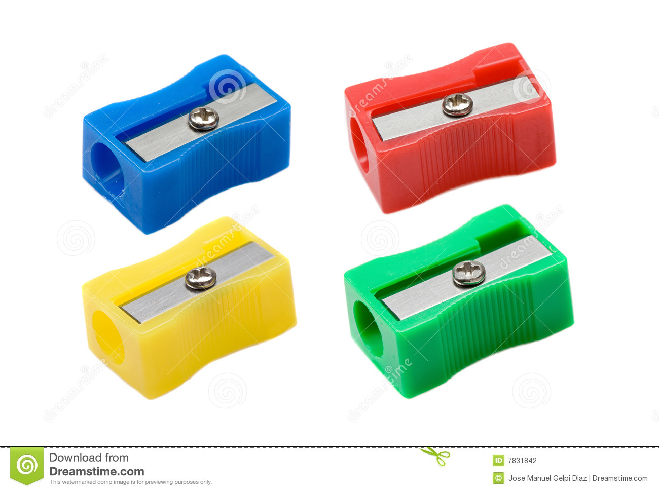 Photo Of Four Pencil-sharpener Stock Photography - Image: 7831842