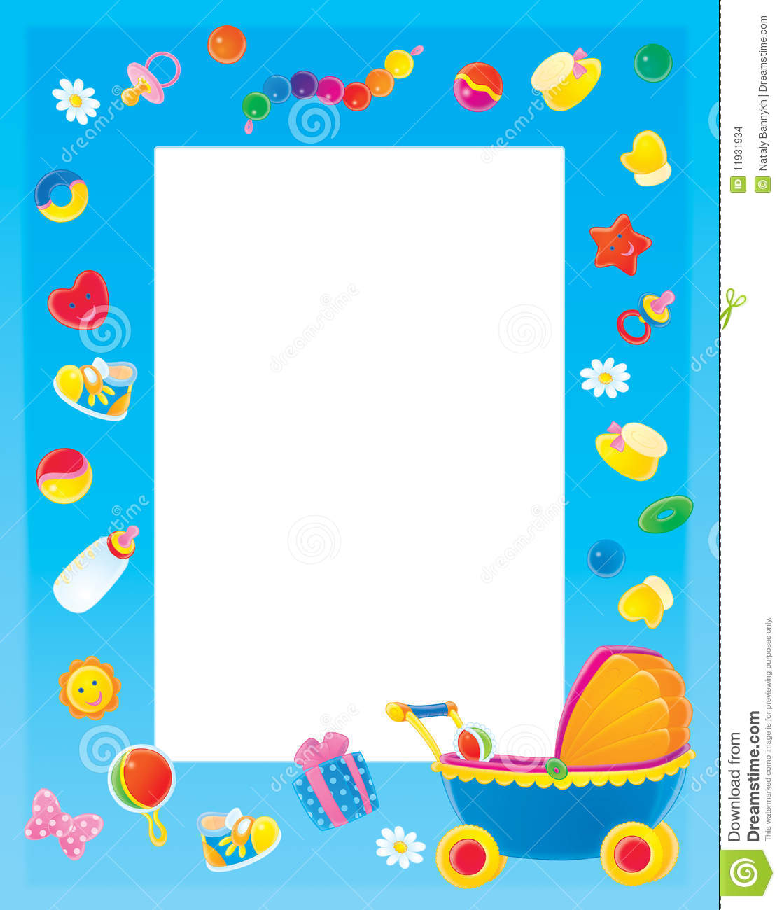 Colorful Page Borders And Frames Colorful border for children's