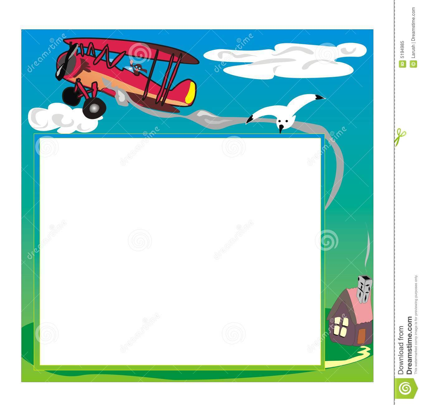 Photo Frame With Airplane Royalty Free Stock Photo - Image ...