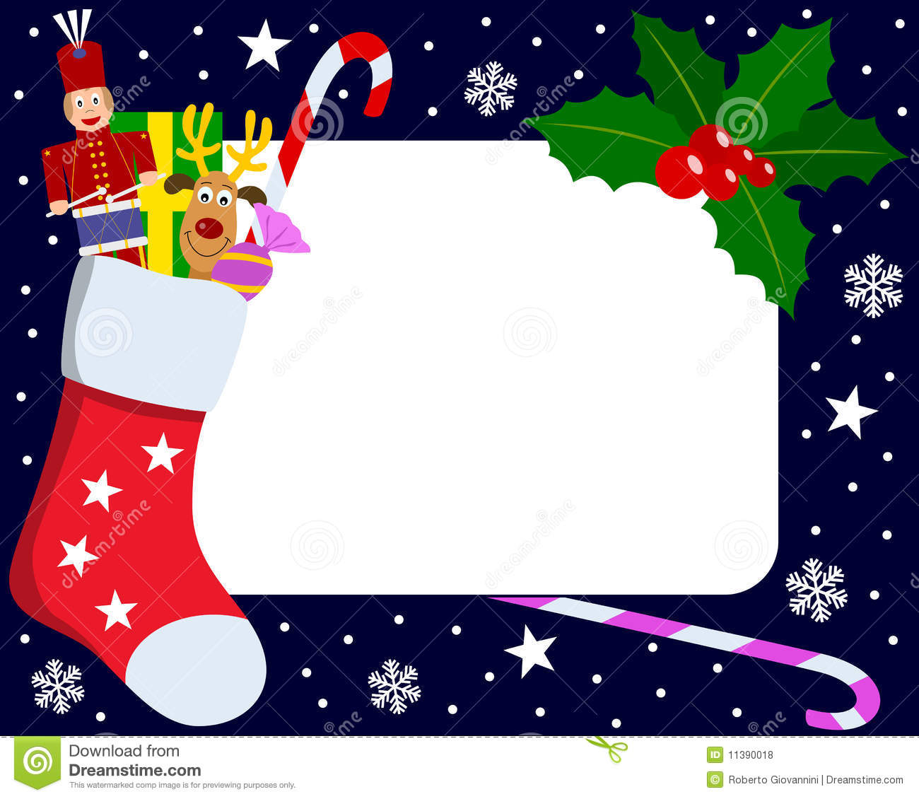 Photo Frame Christmas 5 Stock Vector Illustration Of Holly