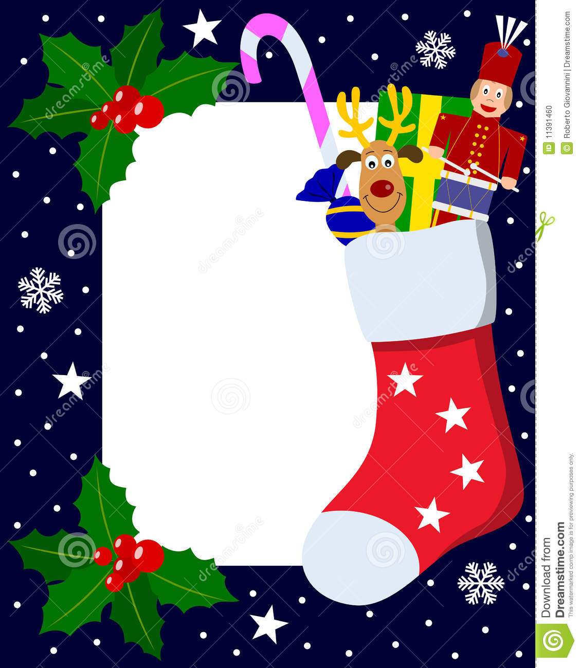 Photo Frame Christmas 6 Stock Vector Illustration Of