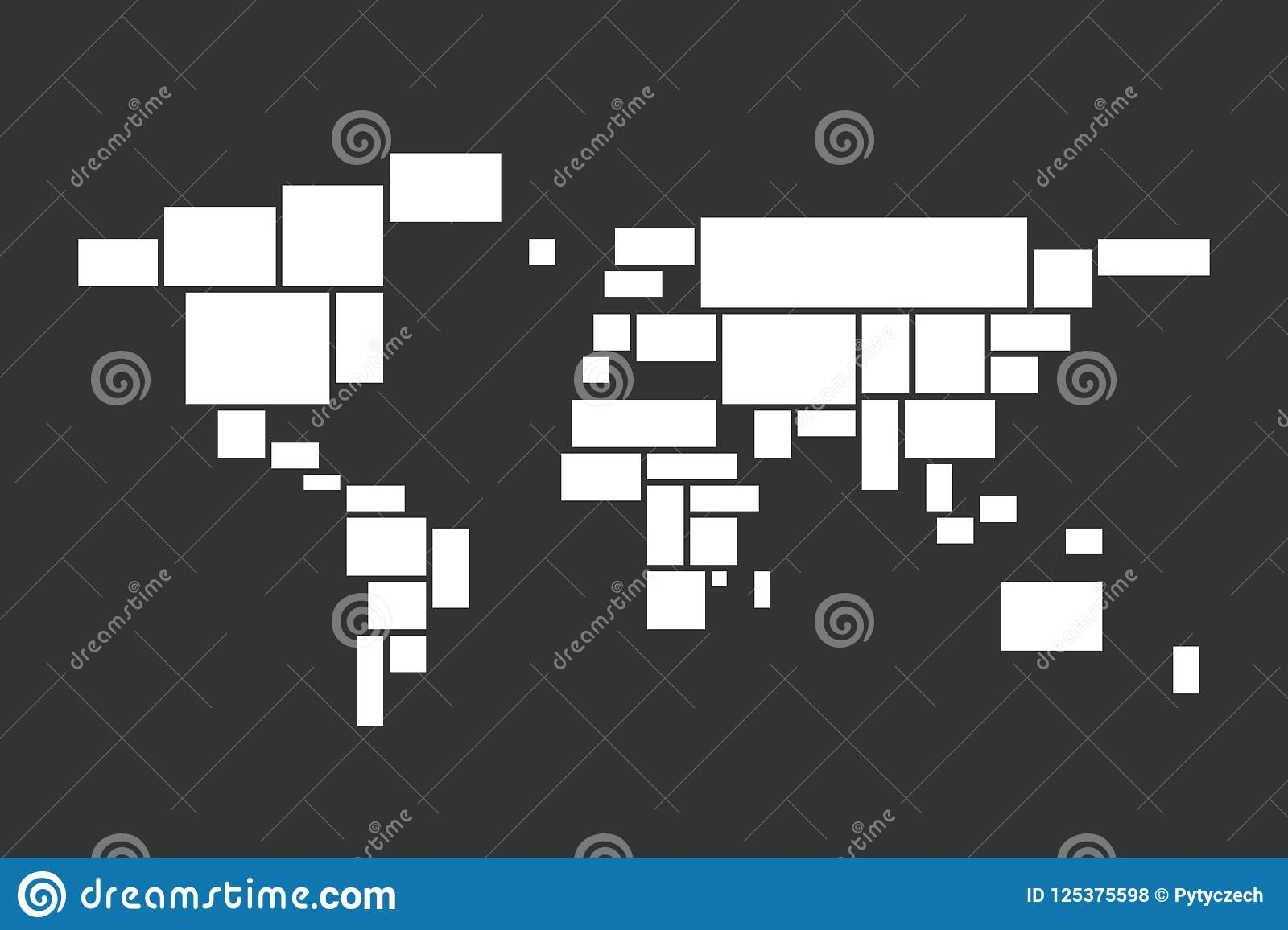 photo frame collage theme in a shape of world map mood board mosaic