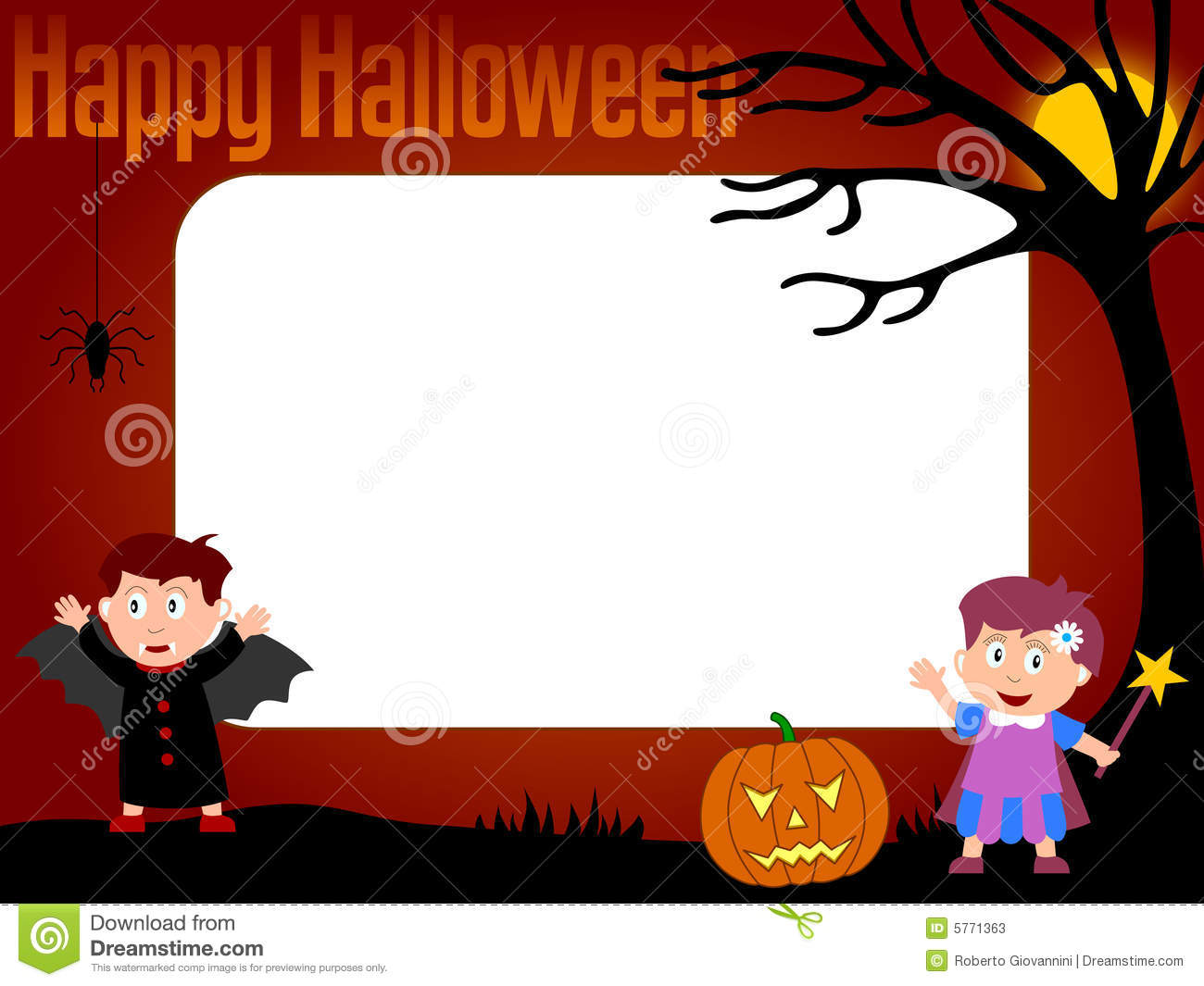 Photo frame halloween 3 stock illustration illustration of photo frame halloween 3 jeuxipadfo Choice Image