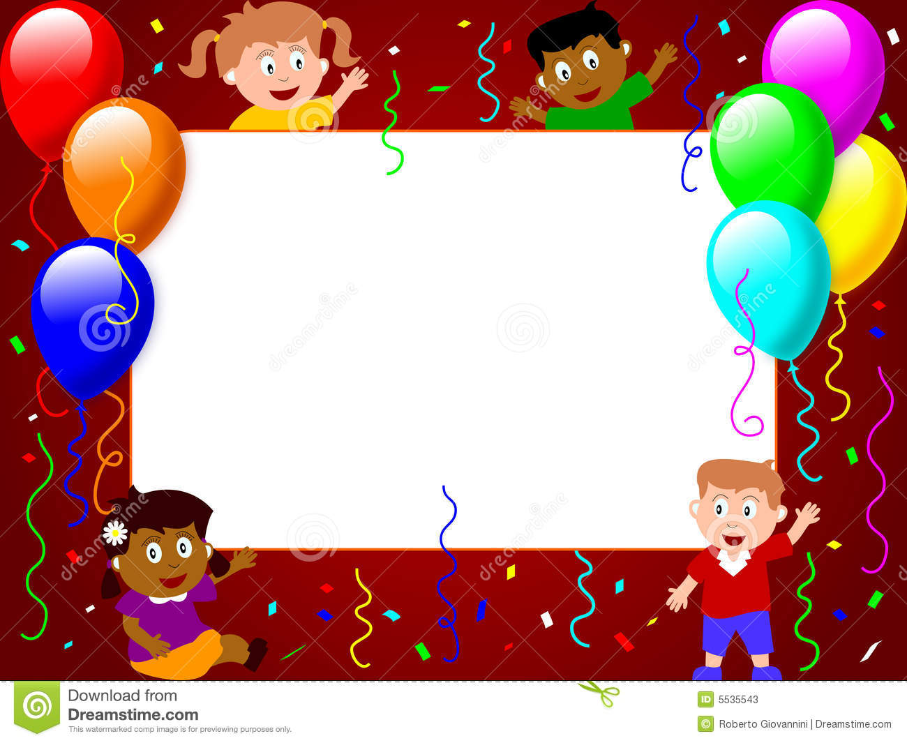 Photo Frame - Party Time [3] Stock Illustration - Illustration of ...