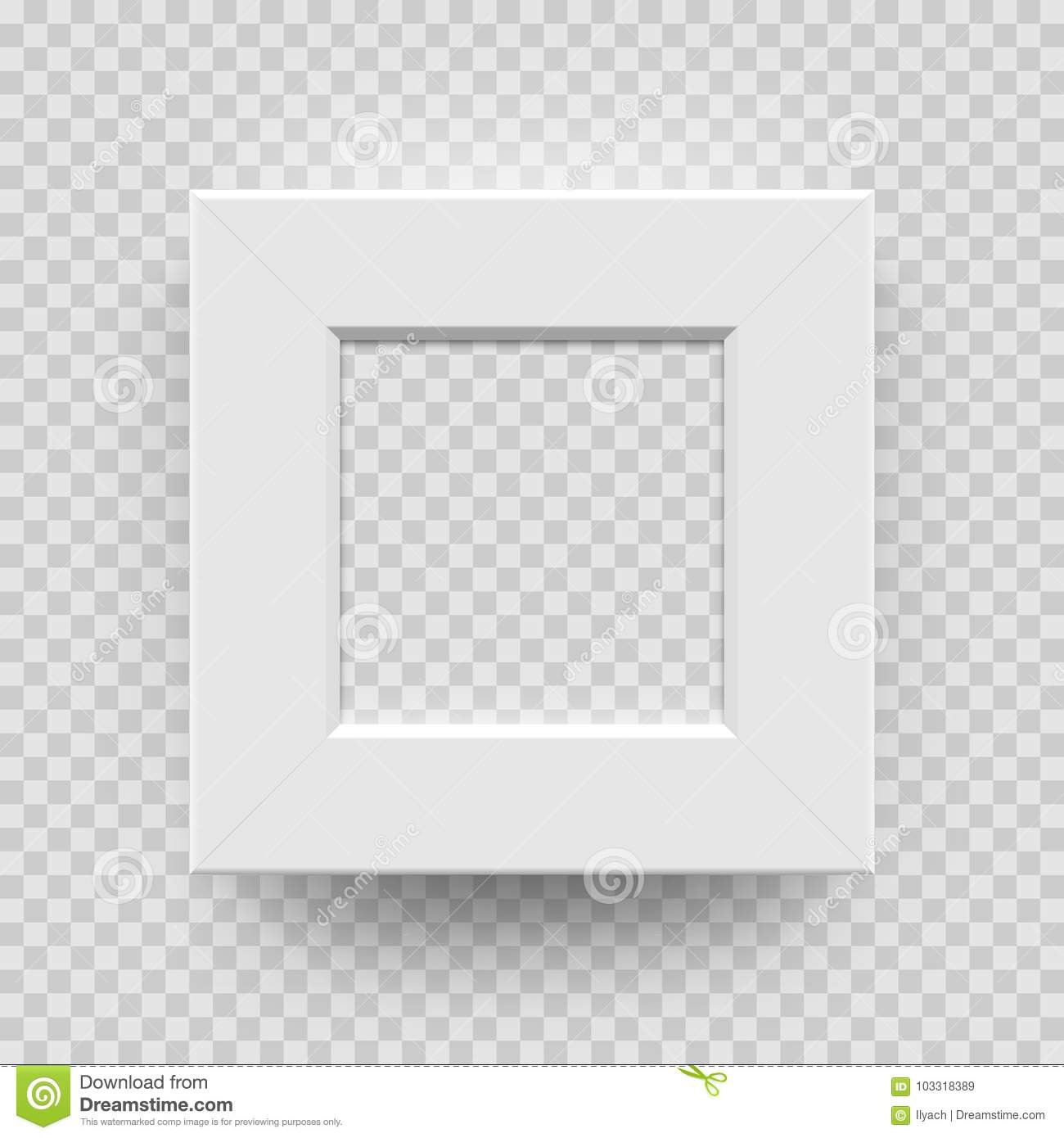 Photo Frame Picture Photoframe White 3D Vector Square Model Stock ...