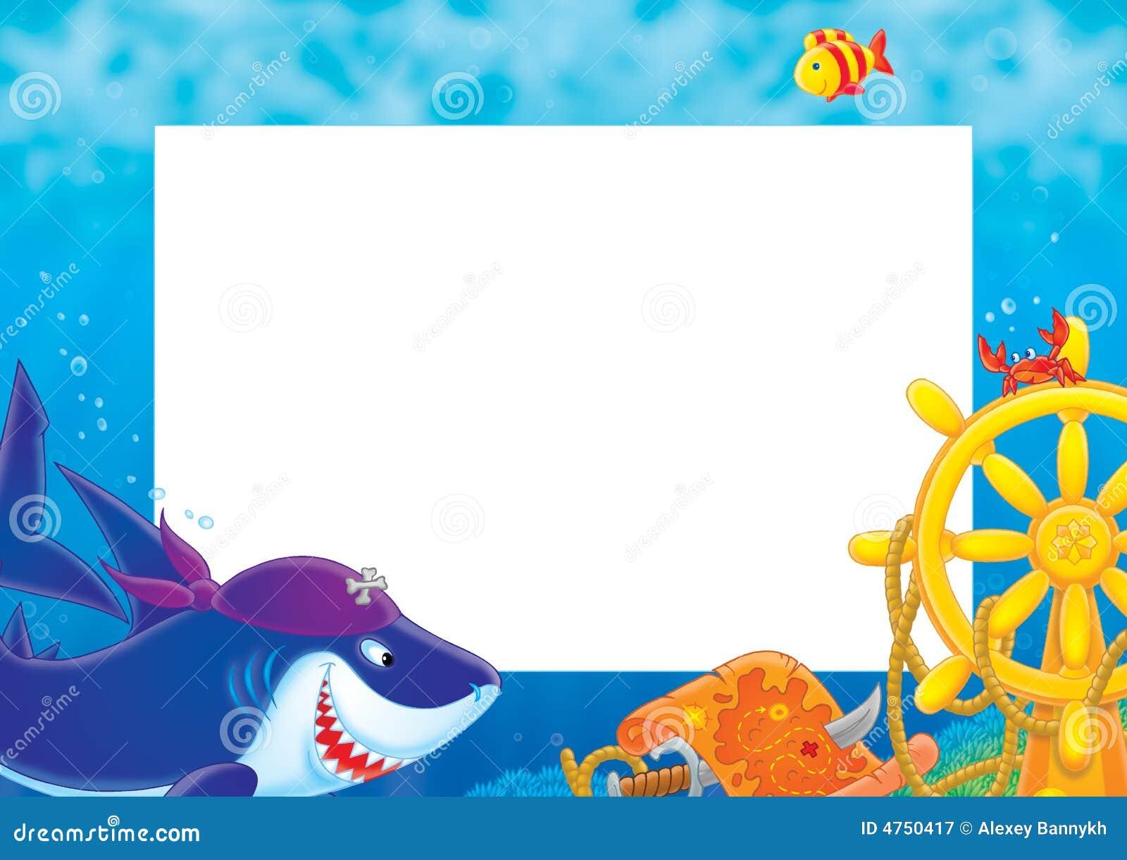 Baby Shark Photo Booth Frame