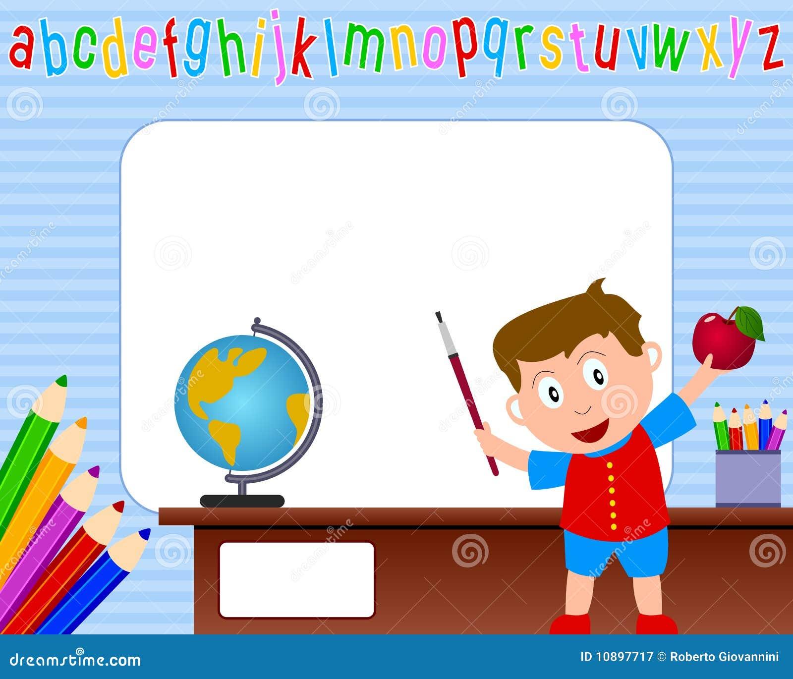 Photo Frame - School Boy [1] Stock Vector - Illustration of pencils ...