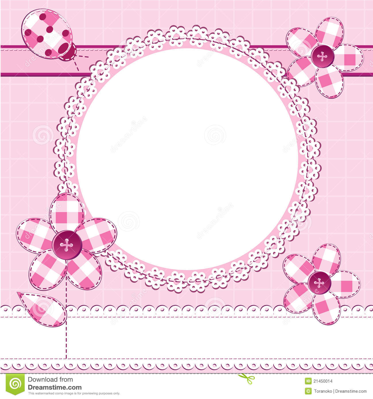 How to scrapbook for baby girl - Photo Frame In A Scrapbook Style
