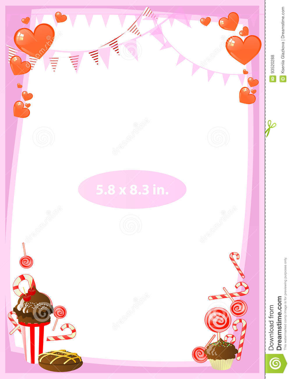 f78091687d3a Photo Frame. Standard Photo Size In Inches. Stock Illustration ...
