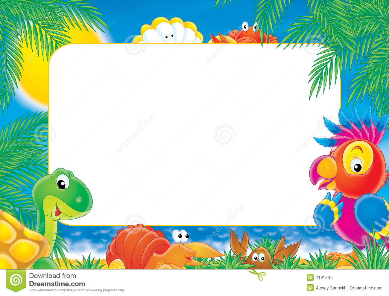 "Photo-frame ""Summer"" Royalty Free Stock Photo - Image: 2191245"