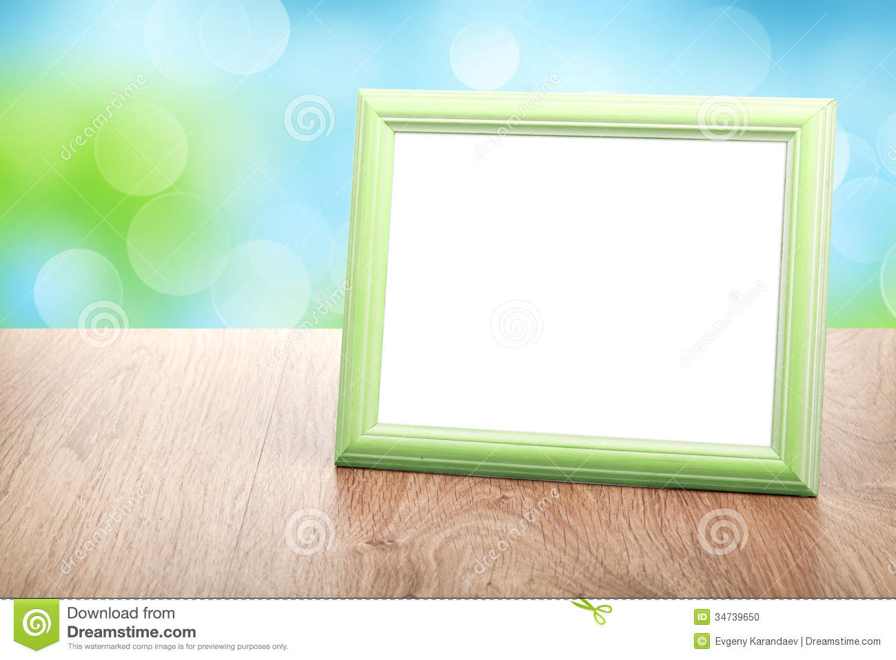 Photo frame on wood table stock photo image of interior for How to display picture frames on a table