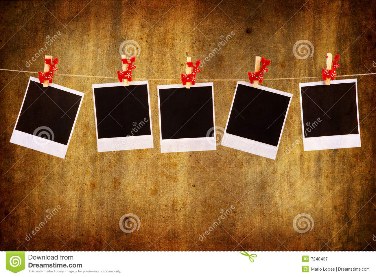 Photo Frames With Christmas Ornaments Stock Image Image