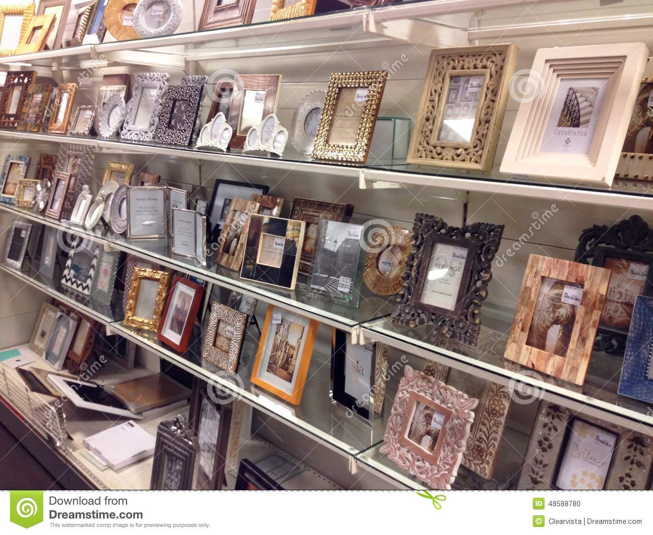 Photo frames for sale in a store editorial image image for Photographs for sale online