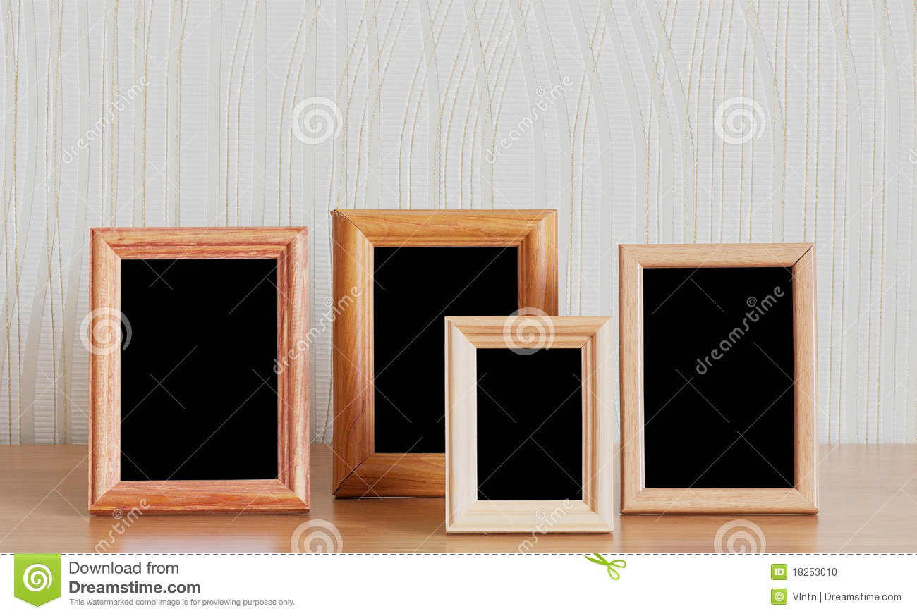 Photo Frames On Table Stock Image 18253010