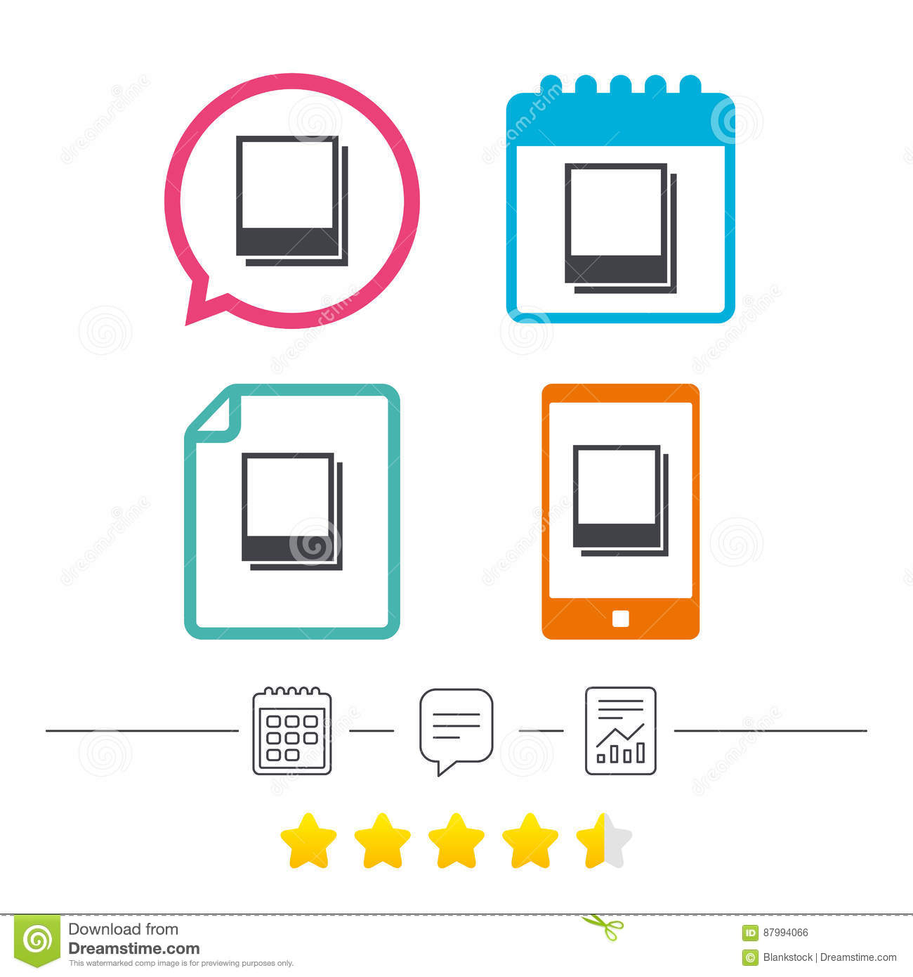 photo frames template icon empty photography vector illustration 87994066. Black Bedroom Furniture Sets. Home Design Ideas