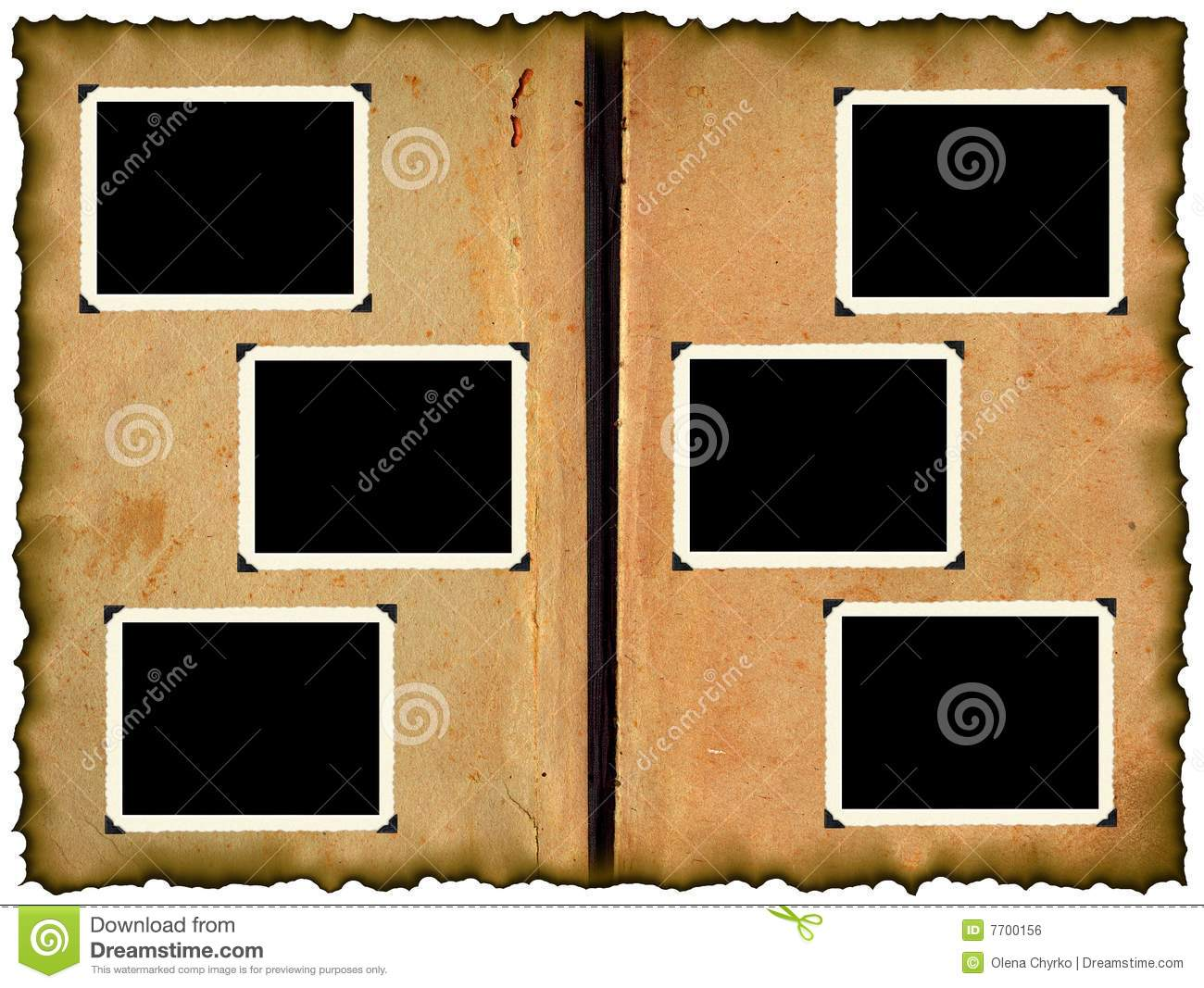 photo frameworks on old album royalty free stock image. Black Bedroom Furniture Sets. Home Design Ideas