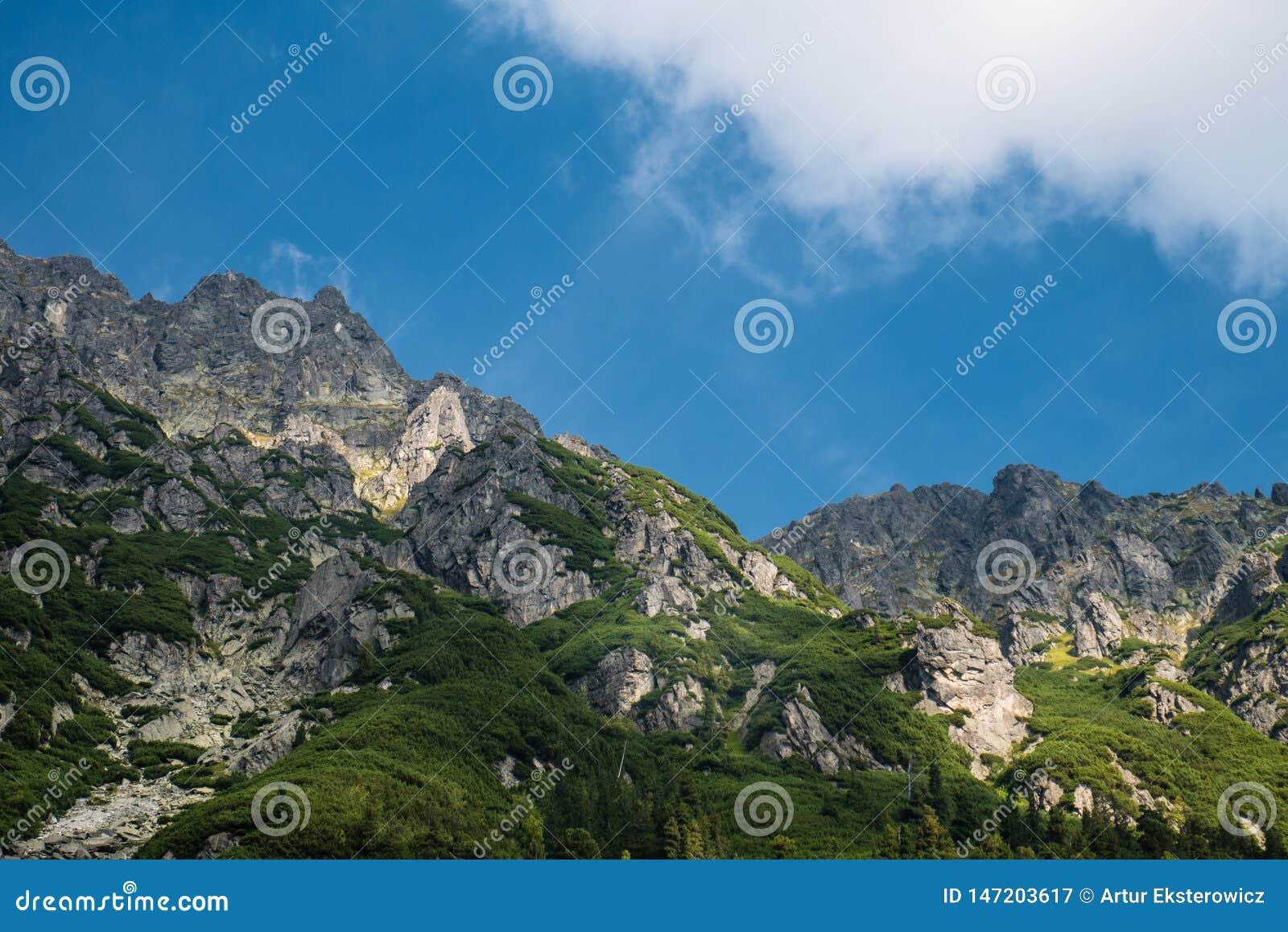 Mountain landscape of Tatra mountains