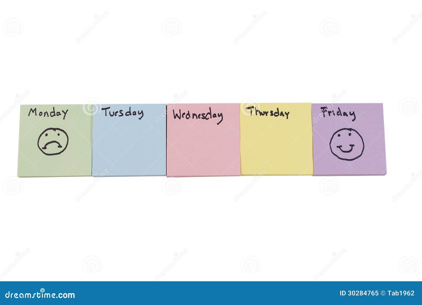 Signalez les protections avec des jours de semaine et d expressions
