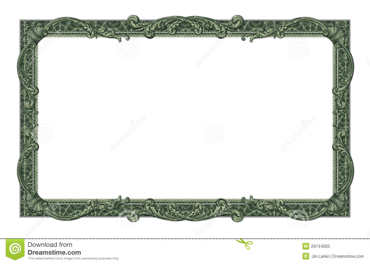 Money Border Stock Image Image Of Text Wealth Design 29744005