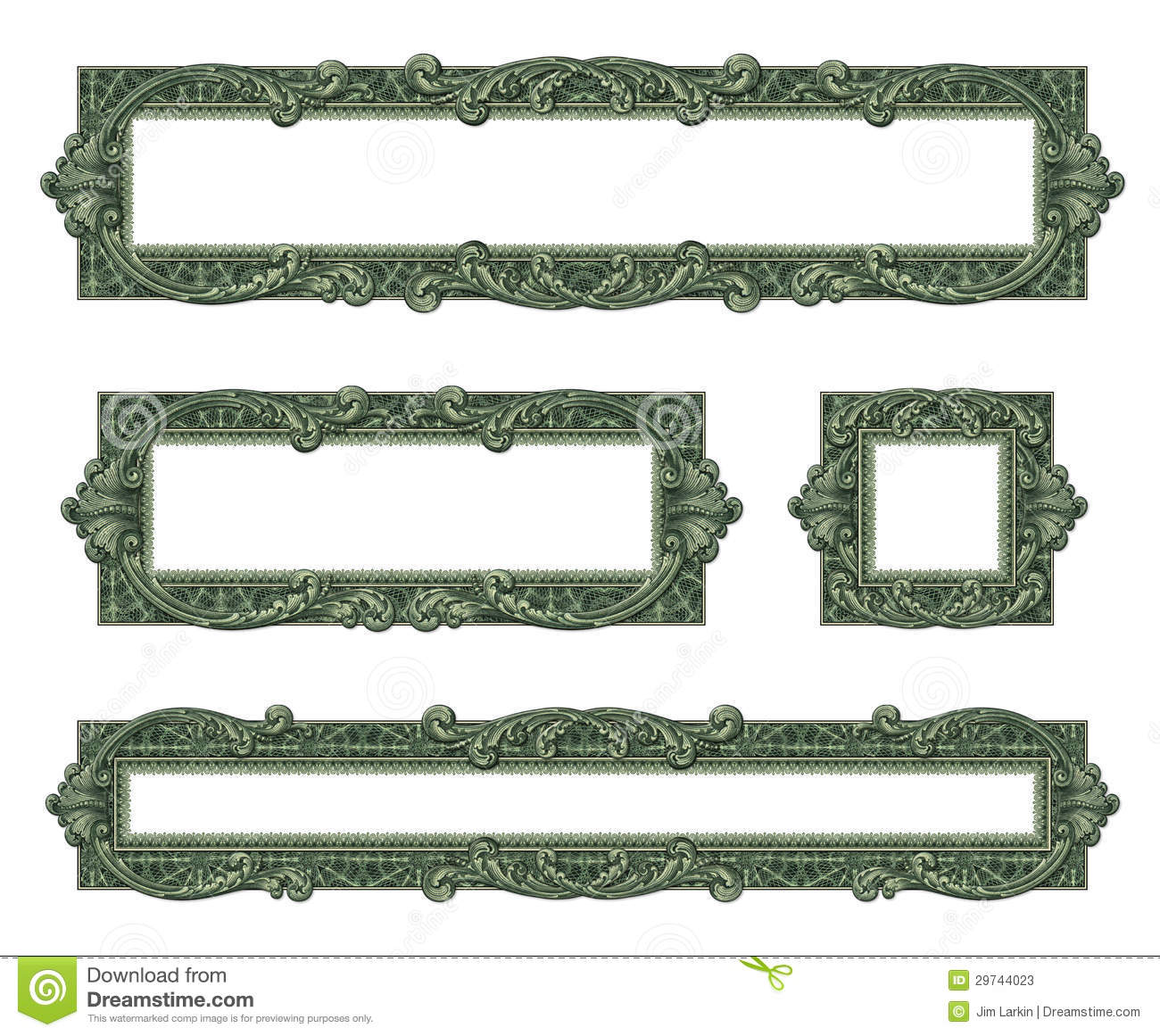 money borders - Dollar Picture Frames