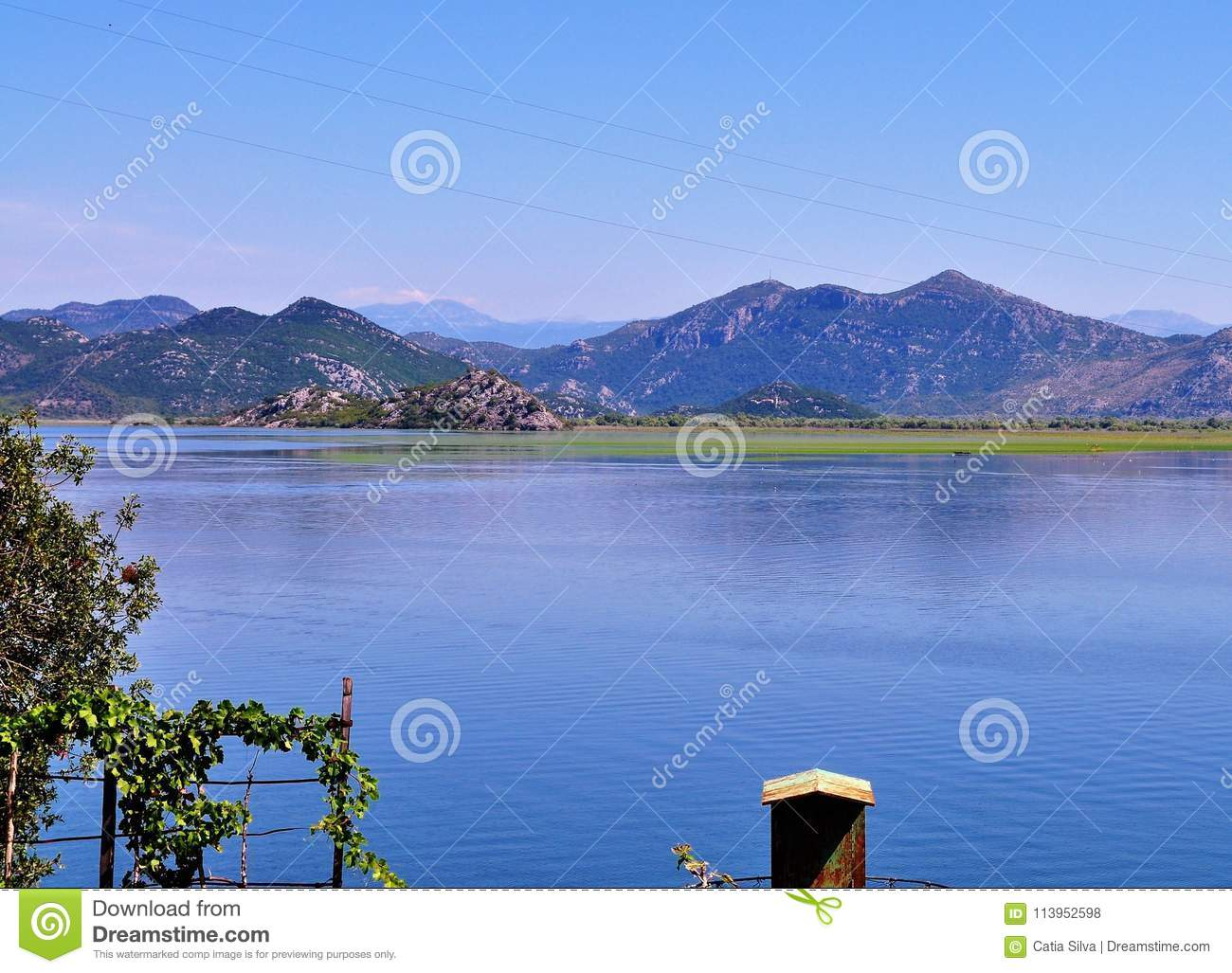 The Lake Skadar and the mountains