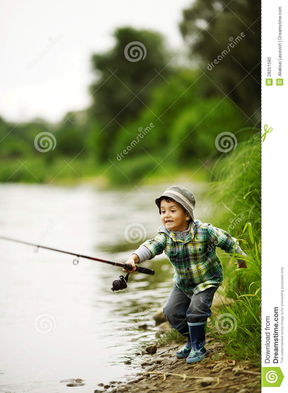 Photo of little boy fishing stock photo image 28251580 for Little boy fishing