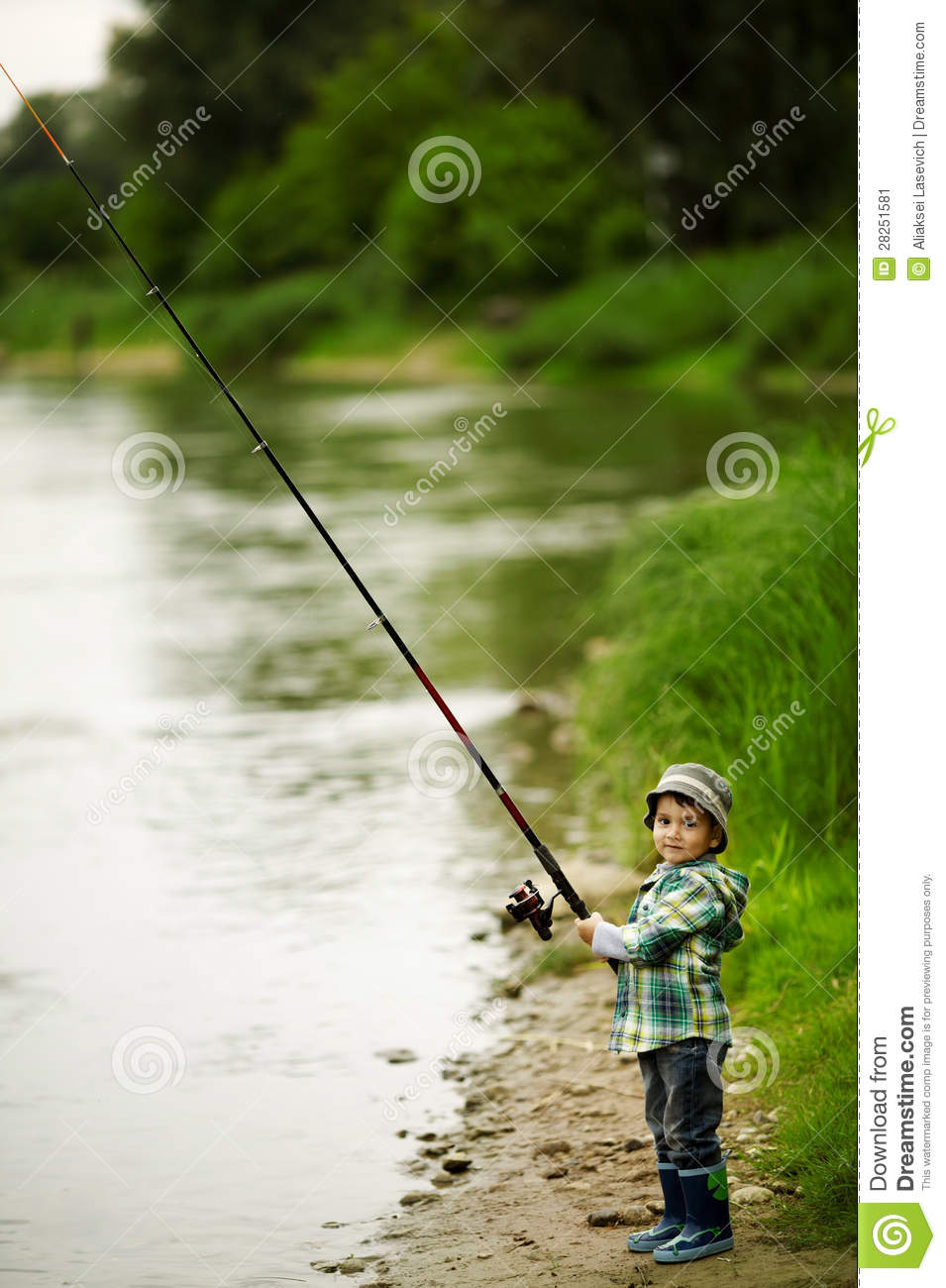Photo of little boy fishing stock image image 28251581 for Little boy fishing