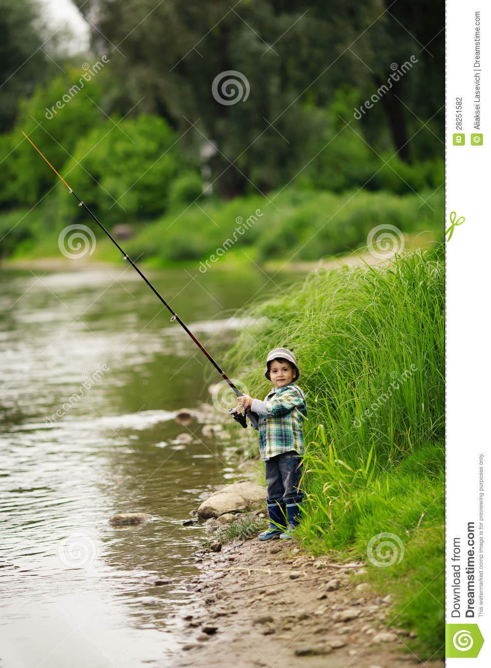 Photo of little boy fishing stock photo image of for Little boy fishing