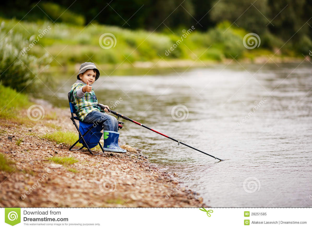 Photo of little boy fishing stock image image of fisher for Fishing times free