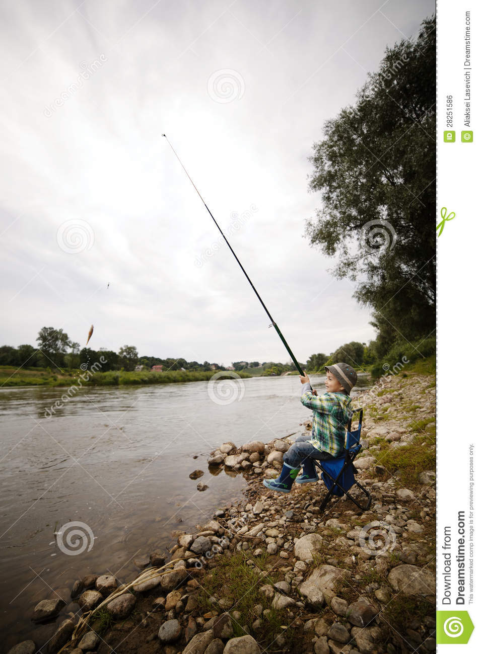 Photo of little boy fishing royalty free stock image for Little boy fishing