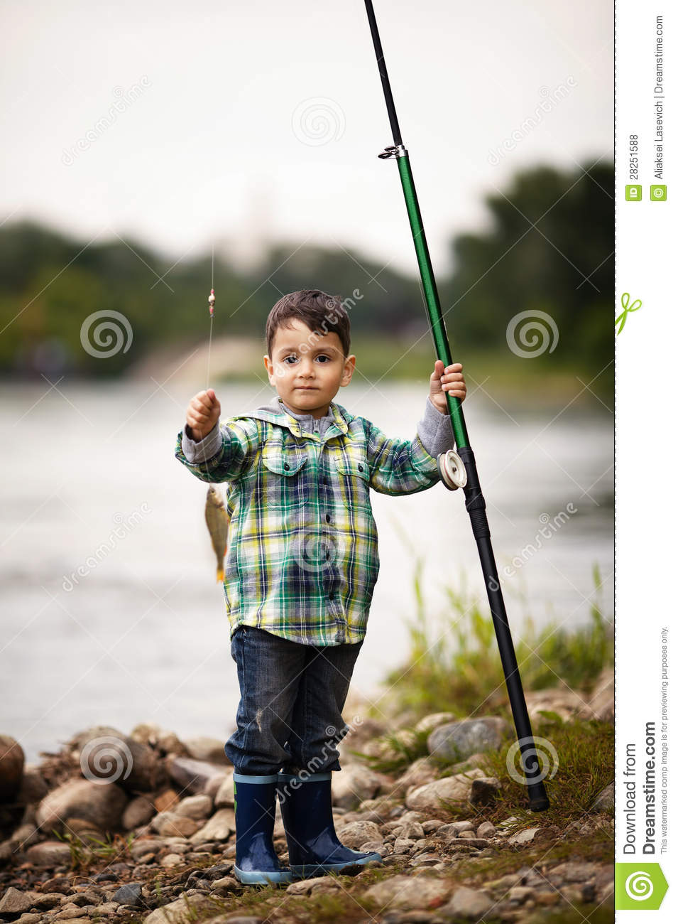 Photo of little boy fishing royalty free stock photos for Little boy fishing