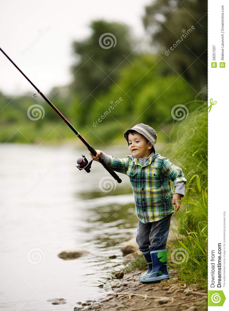 Photo of little boy fishing royalty free stock photography for Little boy fishing