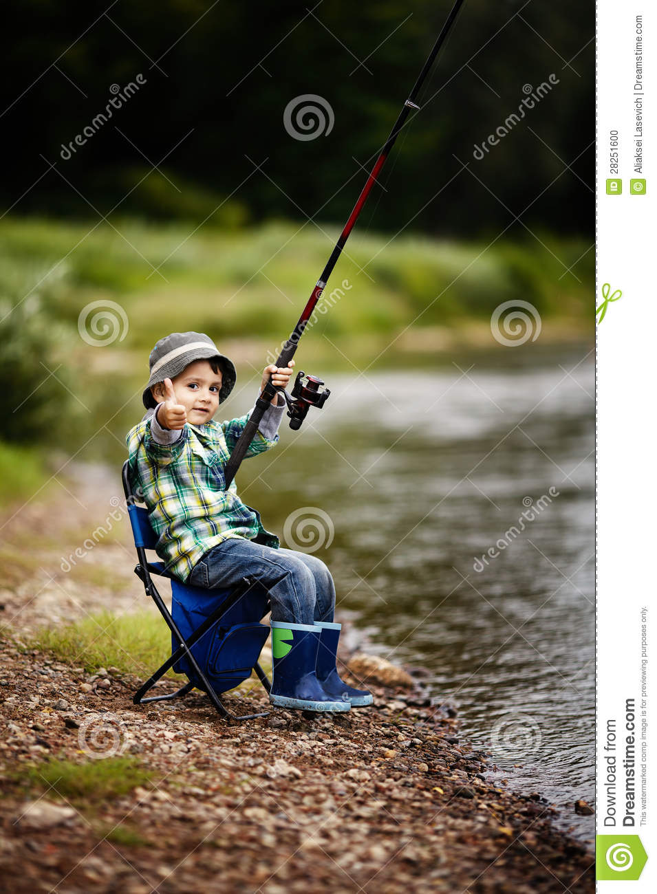 Photo of little boy fishing stock photo image 28251600 for Little boy fishing