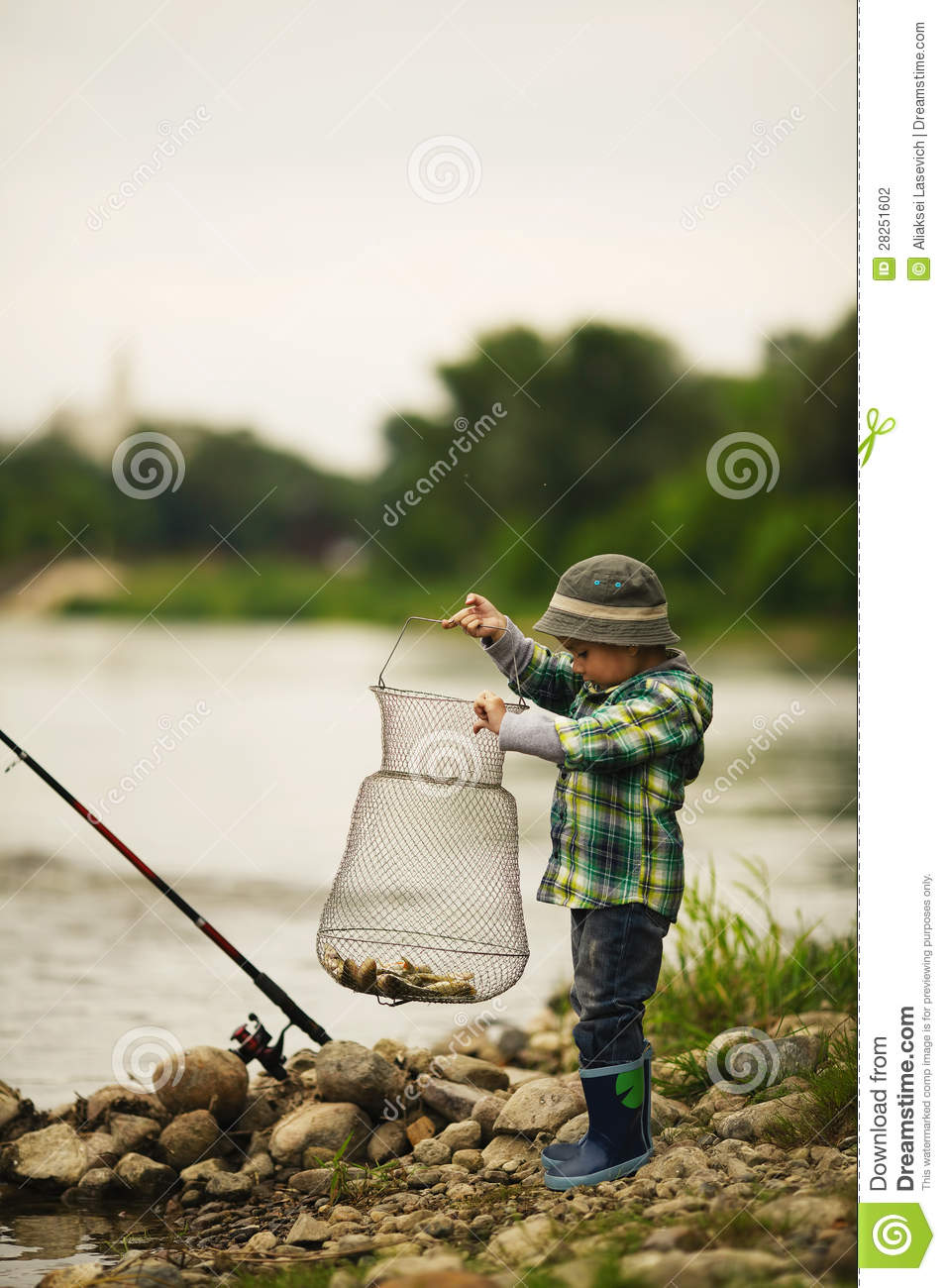 Photo of little boy fishing stock photography image for Little boy fishing