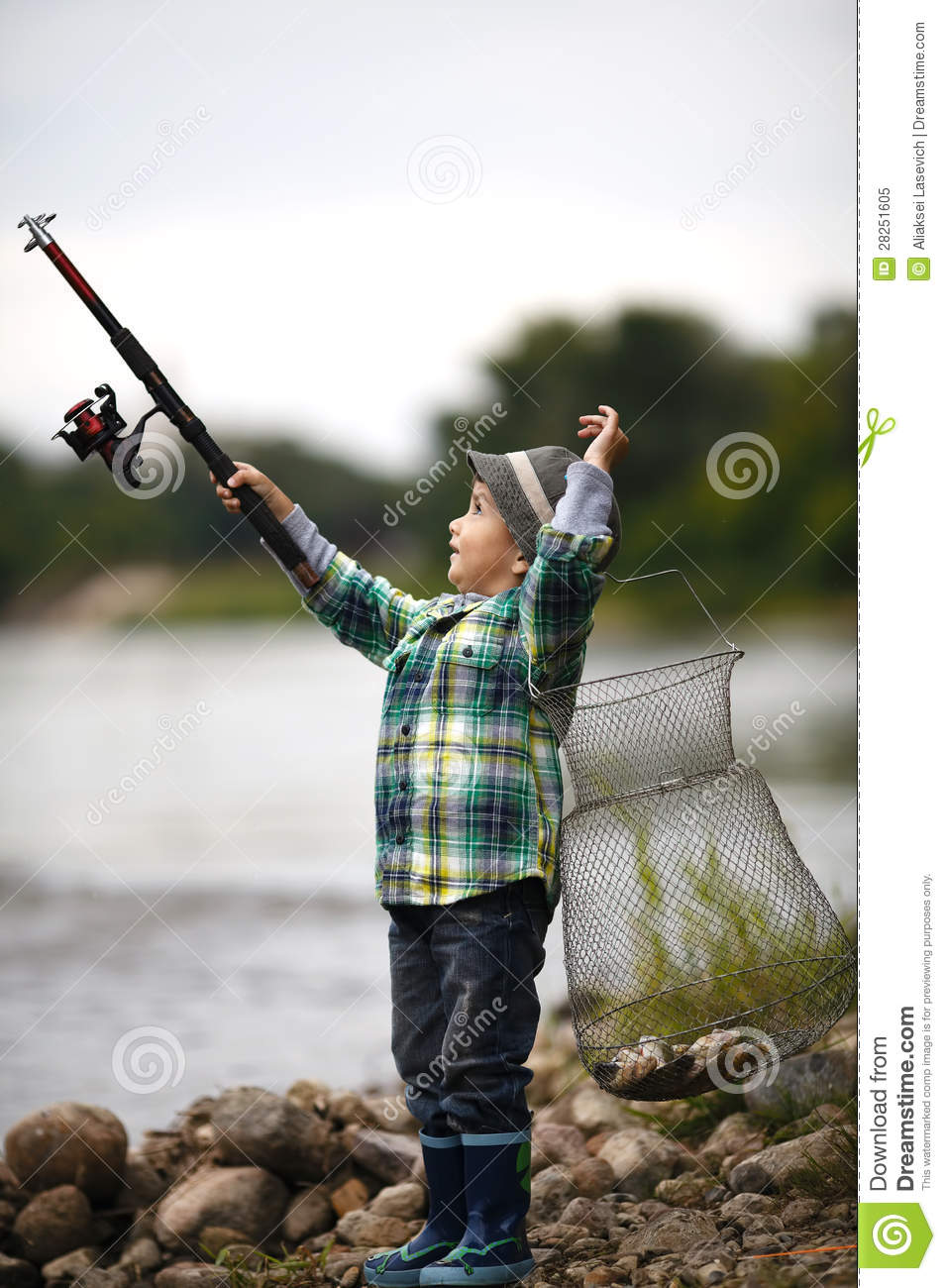 Photo of little boy fishing royalty free stock photo for Little boy fishing