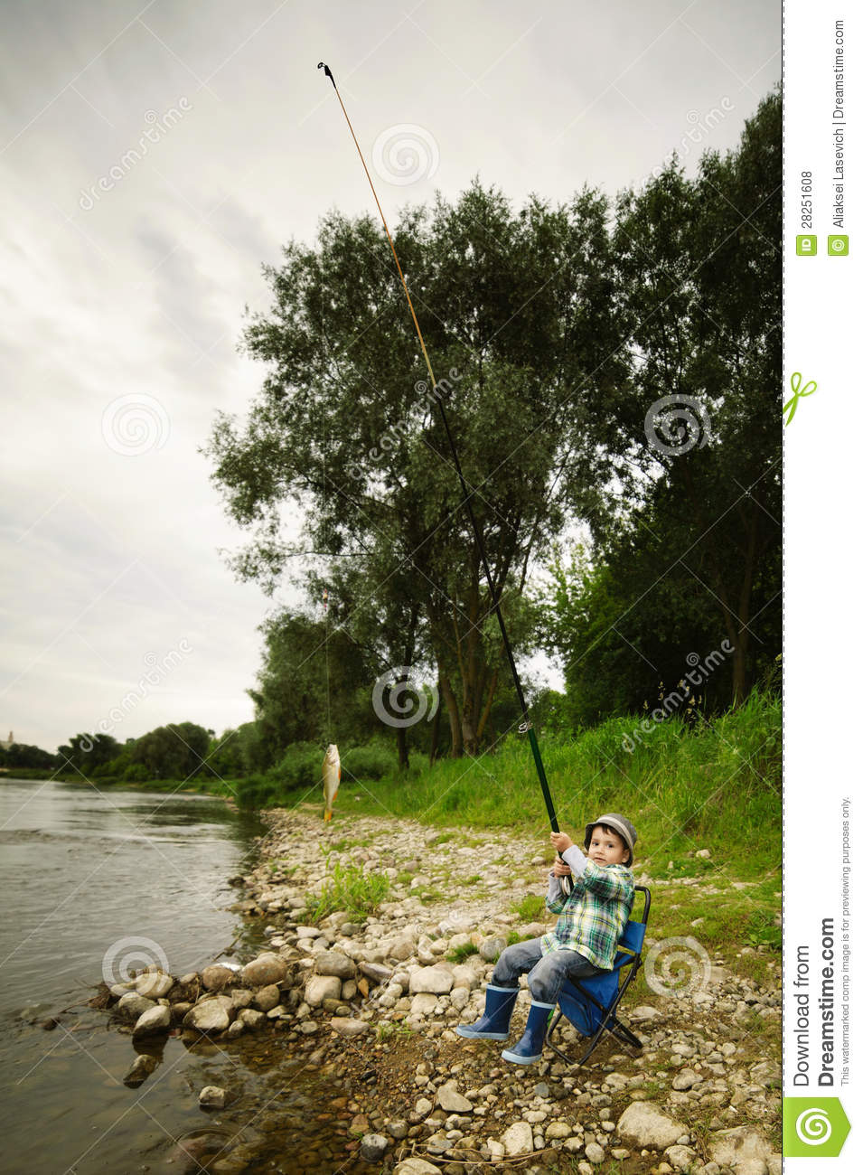 Photo of little boy fishing stock photo cartoondealer for Little boy fishing
