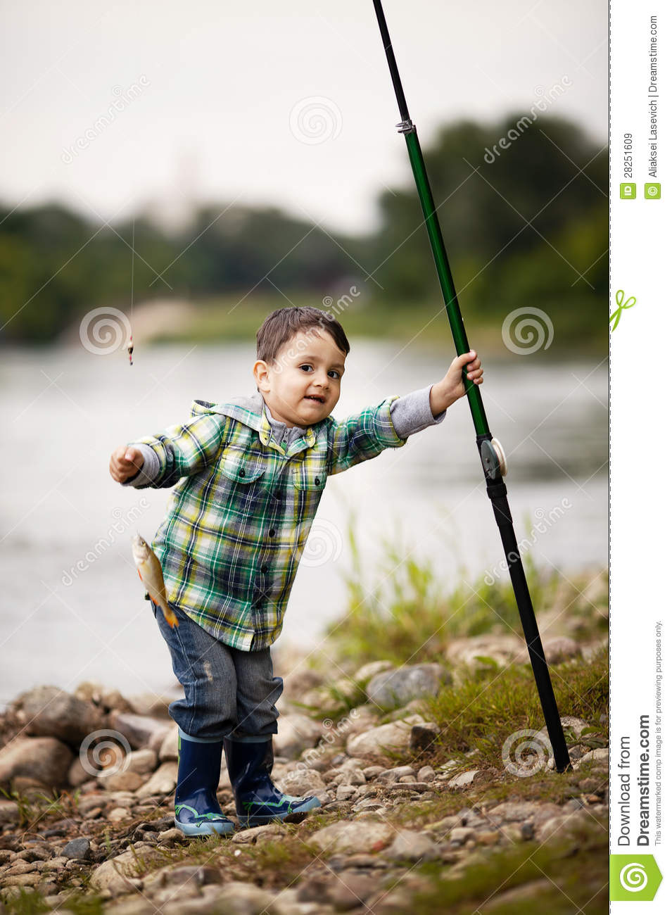 Photo of little boy fishing royalty free stock images for Little boy fishing