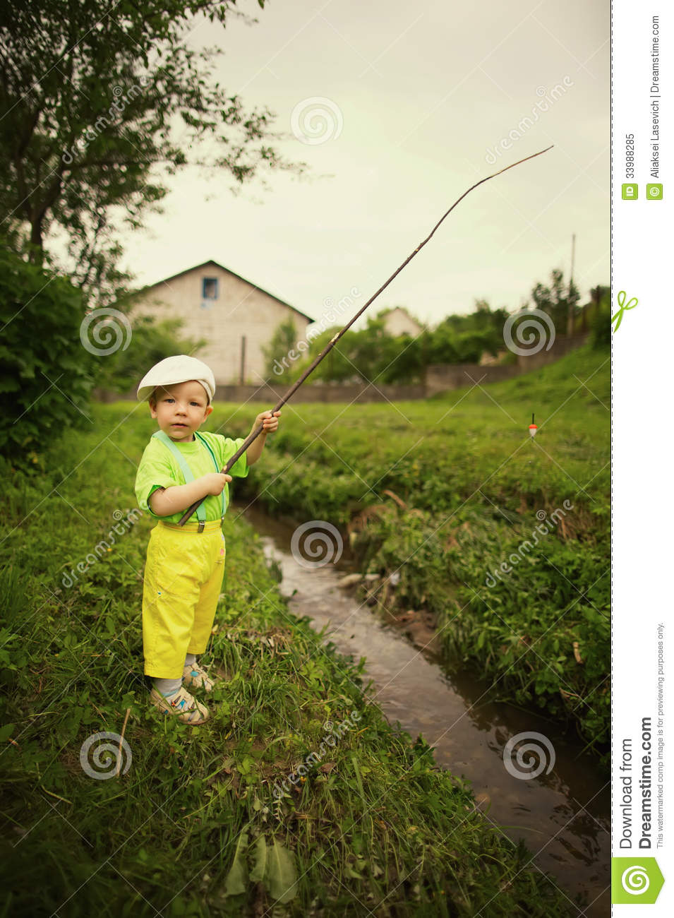 Photo of little boy fishing stock image image 33988285 for Little boy fishing
