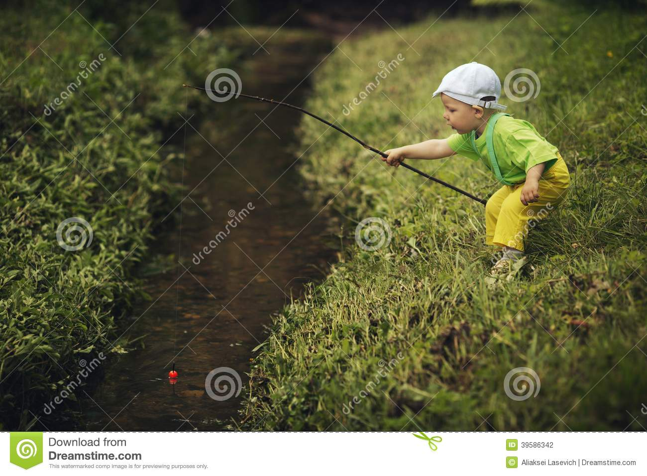 Photo of little boy fishing stock photo image 39586342 for Little boy fishing