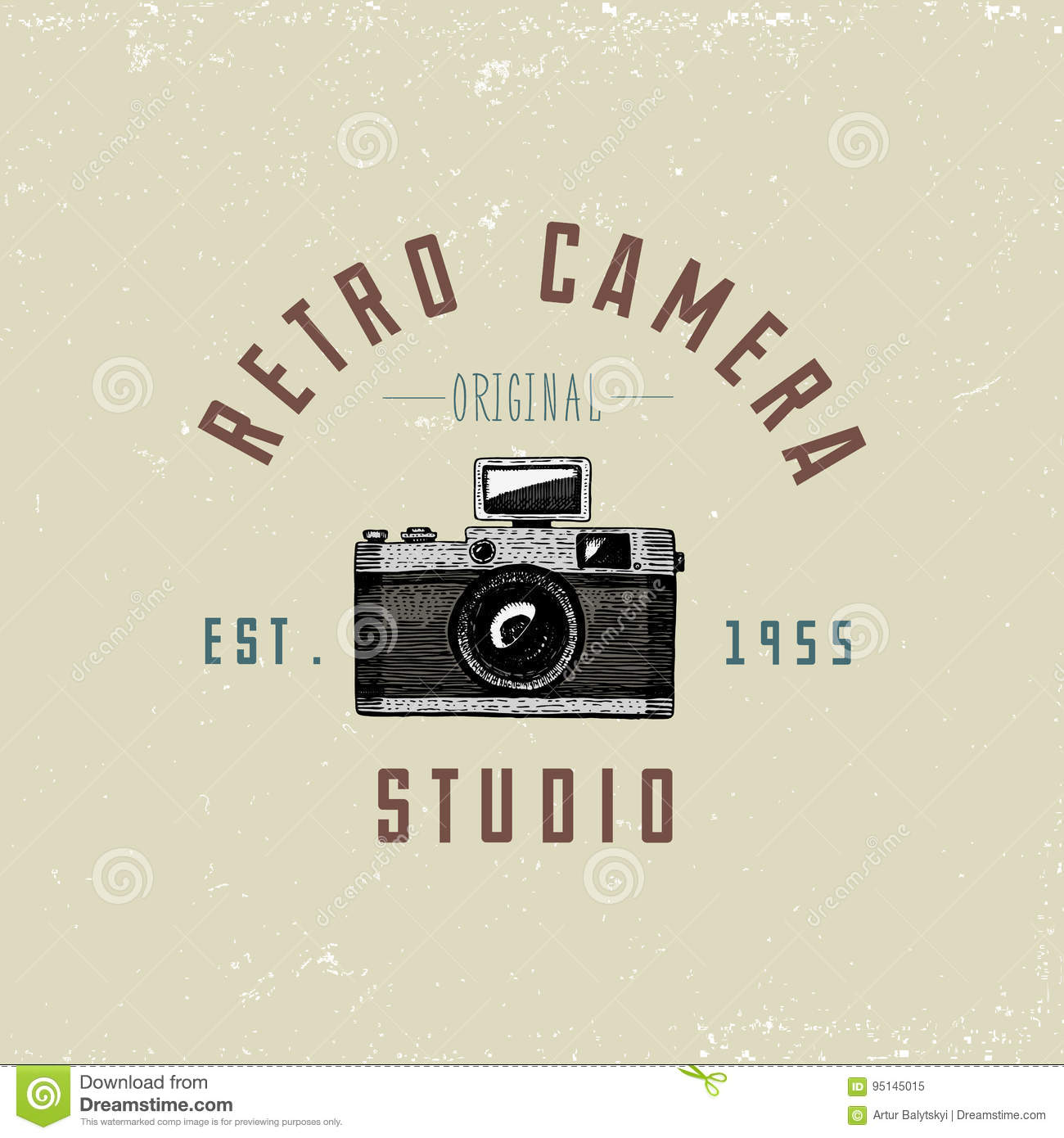 Photo Logo Emblem Or Label, Video, Film, Movie Camera From
