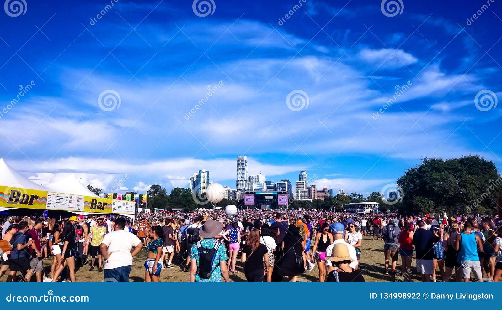 Wide Crowd Image at Austin City Limits Music Festival