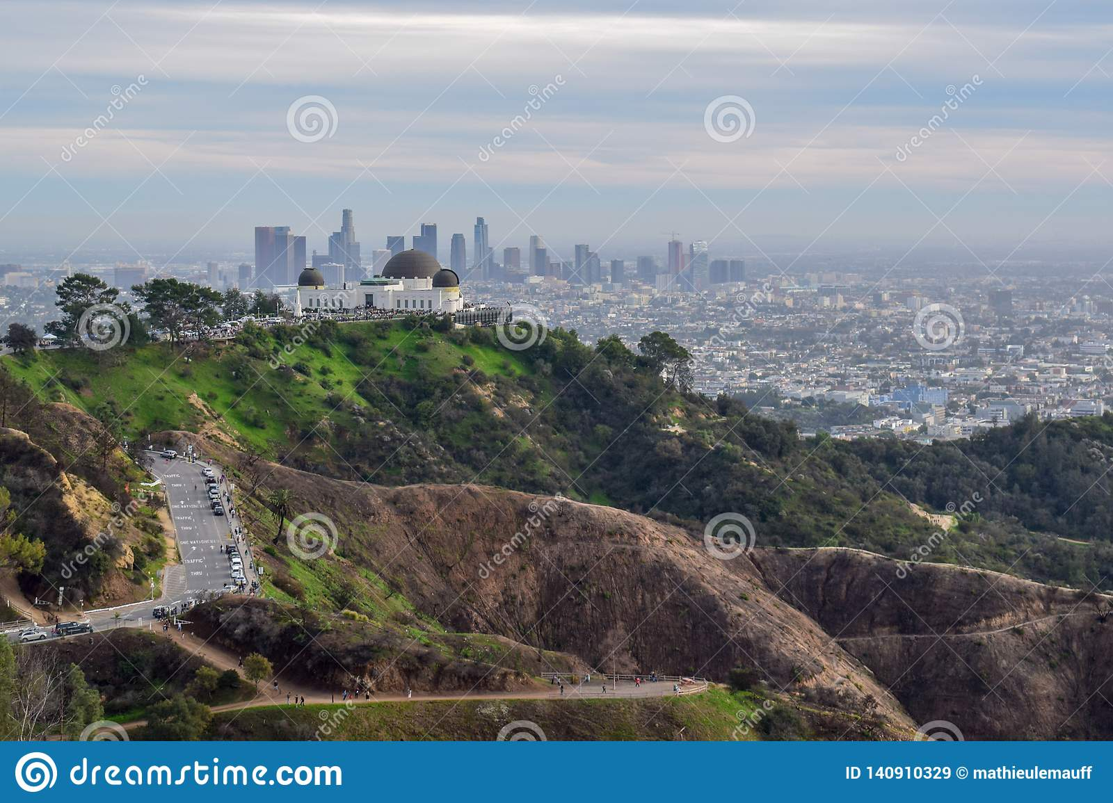Los Angeles Skyline and Nature from Mount Hollywood
