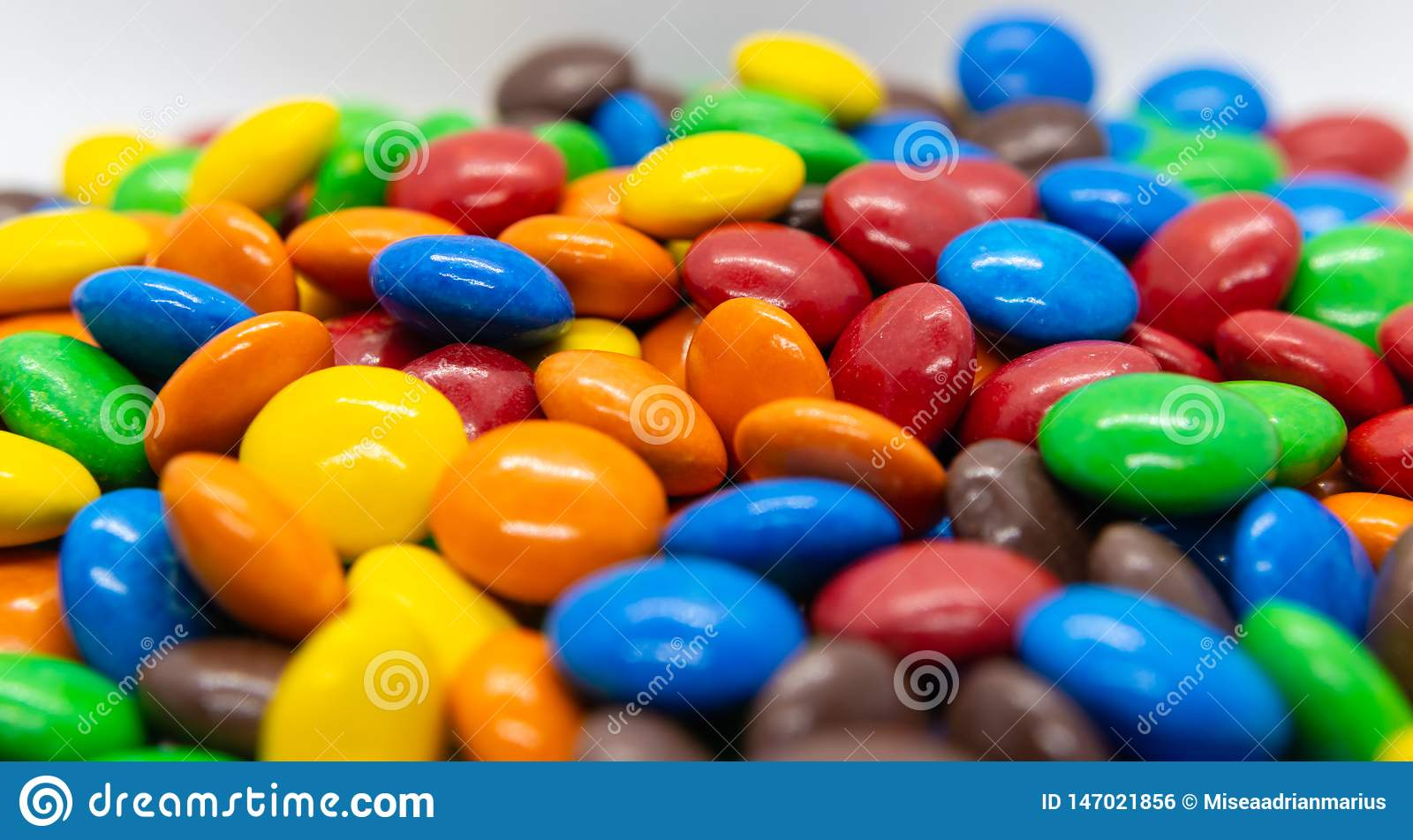 Coloured sweet candy.