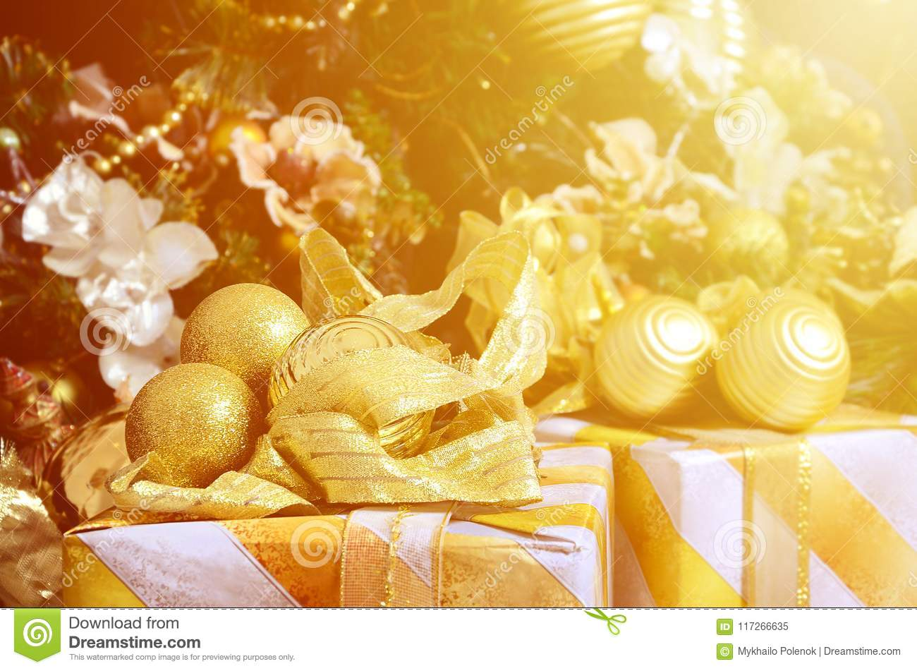 Photo Of Luxury Gift Boxes Under Christmas Tree, New Year ...